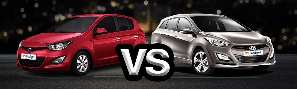 רק החוצה יונדאי i20 מול יונדאי i30 - השוואת רכבים | Budget EF-42